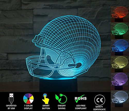 Sports Light Displays (3D Football Illusion Lamp, LED Night Light)