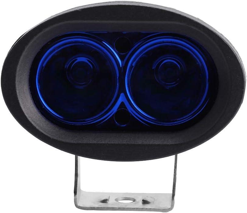 Zerone Luz Redonda LED luz de Advertencia Azul Luz de Trabajo de Seguridad 9-60V IP67 20W para Carretilla elevadora Industrial