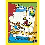 Kids N' Krafts Draw N' Story 50 Sheet Tablet Ruled Newsprint 9 x 12