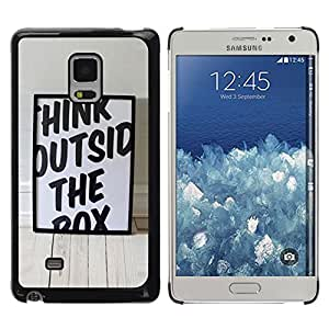 Exotic-Star ( Funny Think Outside The Box ) Fundas Cover Cubre Hard Case Cover para Samsung Galaxy Mega 5.8 / i9150 / i9152
