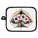 Potholder Pot Holder Four of a Kind Poker Spade