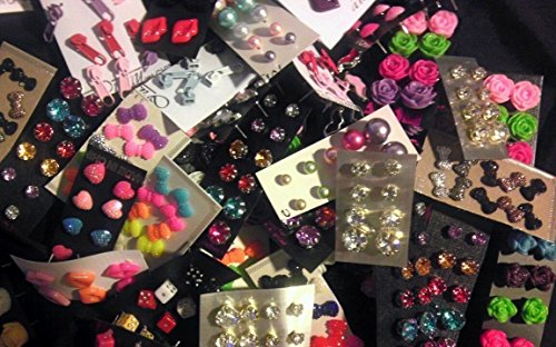 Wholesale Lot Bulk Stud Earrings 100 Pairs Brand New Bulk -