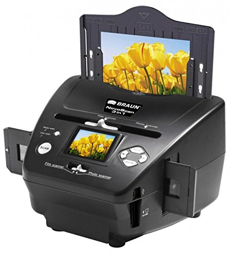 Price comparison product image Braun NovoScan 3-in-1 Scanner for Film and Photos,  1800x1800dpi Optical Resolution
