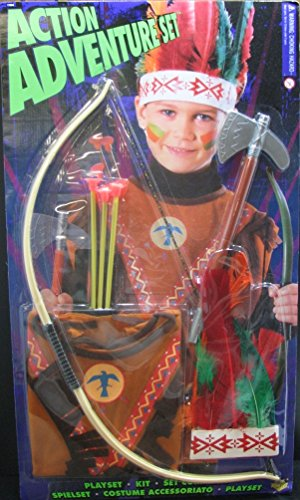 Halloween Resource Center, Inc. Action Adventure Native American Play Set - Blister Pack ()