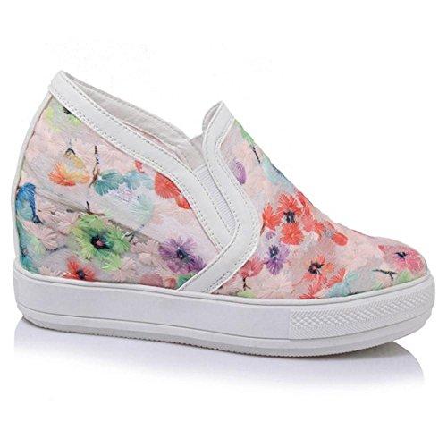 Zeppa Sneaker TAOFFEN Moda Pink Donna qwnCYz
