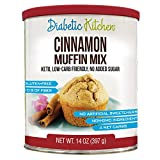 #9: Diabetic Kitchen Muffin Mixes For Bakery Fresh Muffins That Are Low-Carb, Keto-Friendly, No Sugar Added, Gluten-Free, High-Fiber, Non-GMO, No Artificial Sweeteners (Cinnamon)