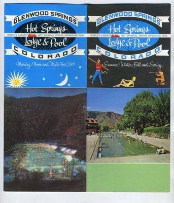 Hot Springs Lodge Pool Brochure Glenwood Springs Colorado 1960s