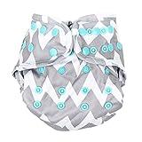 Bumkins Cloth Diaper Cover, Gray Chevron, Newborn