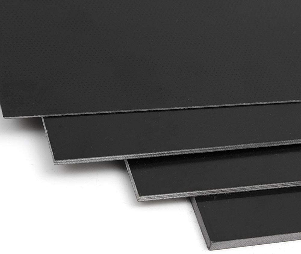 CoCocina 250x420mm 0.5-5mm Black Fiberglass Sheet Glass Fiber Sheet Epoxy Glass FR4 Glass Fiber Plate for DIY Craft 2mm