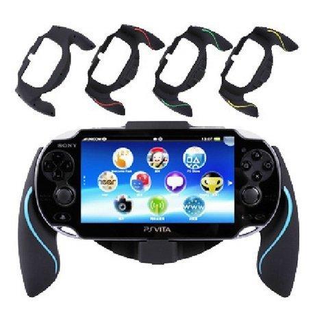 Aweek® Bracket Handgrip Handle Grip Case for Playstation Vita 1000 PSVita PS Vita - Blue by Aweek