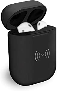 Blandstrs Wireless Charging Case with Sync Button Compatible with Airpods 1 & 2, Air pods Charger Case Replacement, NO EARPODS - Black