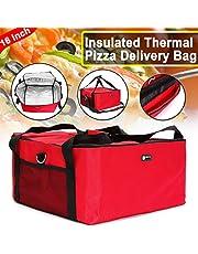 Janolia Bolsa de Pizza, Bolsa Térmica de Entrega de Pizza, 42 x 42 x 23 cm, Tenir la Pizza de 16 Pulgadas, Bolsa de Almuerzo, Bolsa de Picnic Hecho de Tela Oxford y Papel de Aluminio