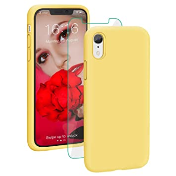 coque apple iphone xr silicone jaune