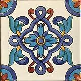 6x6 4 pcs Cordoba Talavera Mexican Tile