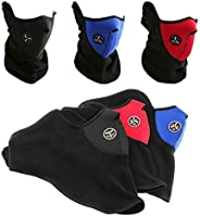 Bike Motorcycle Ski Snowboard Sport Neck Warmer Face Mask Winter Outdoor Protective Gear (Full Set - 3 Colours