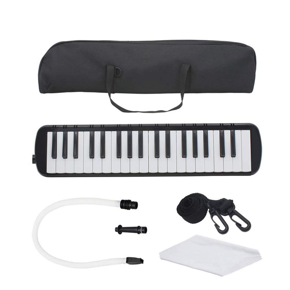 HBIAO 37-Key Piano Style Key Melodica, Children's Student Instrument Harmonica Portable Harmonica Pianica with Tote Bag