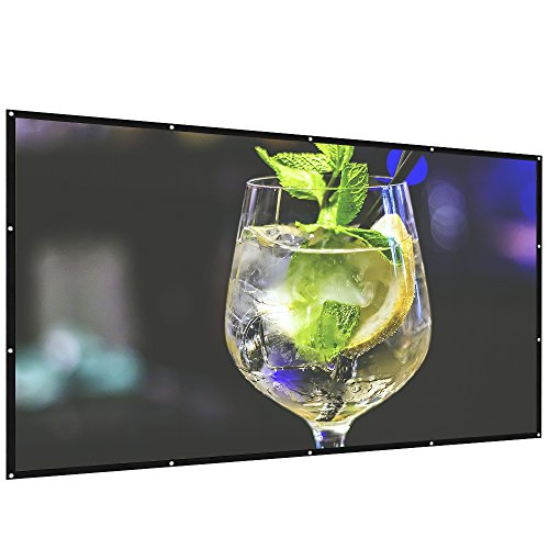 AZONE1 Portable Projector Screen 100 inch,Outdoor Projector Screen Foldable HD Video Movie Projection Screen for Home Theater TV Gaming -Works with 4K DLP LED LCD Mini Projectors