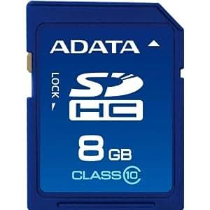 ADATA 8GB SDHC Class 10 R:20MB/sec,W:16MB/sec, Retail, ASDH8GUICL10-R (R:20MB/sec,W:16MB/sec, Retail)