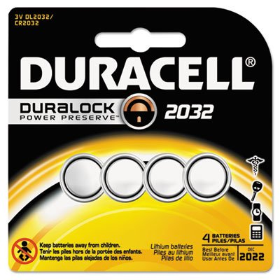 Lithium Medical Battery, 3V, 2032, 4/Pk, Sold as 2 (Lithium Package)