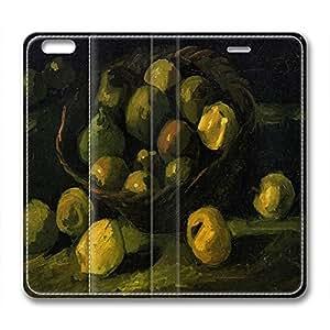 DIY Vincent Van Gogh Design Iphone 6 Leather Case Fruit Basket