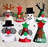 BeesClover Christmas Cap Party Decoration Favor Christmas Tree Reindeer Santa Claus Hat Cap Dressup Ball Festive Gift Supplies Multi