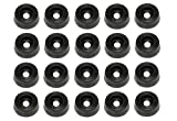 20 Small Soft Round Rubber Feet - .250 H X .671 D - Made in USA - Food Safe Cutting Boards Electronics Crafts #