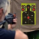Shooting Splatter Targets-9.5x14.5 inch Self Adhesive Paper Silhouette Reactive Target Stickers for Gun Rifle,Pistol,BB Gun,AirSoft,Pellet Gun,Air Rifle(50PCS)