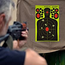 Shooting Splatter Targets-9.5x14.5 inch Self Adhesive Paper Silhouette Reactive Target Stickers for Gun Rifle,Pistol,BB Gun,AirSoft,Pellet Gun,Air Rifle(50PCS)