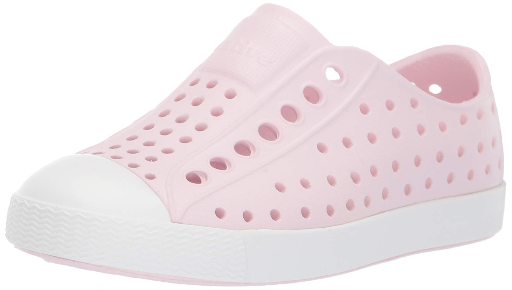 Native Shoes Girls' Jefferson-K Sneaker, Milk Pink/Shell White, 10 M US Toddler