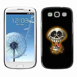 Planetar® ( Laughing Skull ) Fundas Cover Cubre Hard Case Cover Samsung Galaxy S3 III / i9300 i717