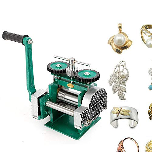 Manual Rolling Mill Machine, Combination Rolling Mill Jewelry Press Tabletting Tool Machine 85mm for Jewelry Design Repair US Stock