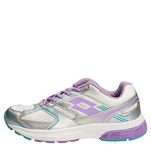 Lotto Zenith VIII W Zapatillas de running, Mujer Blanco / Morado (Wht / Vio Dgt)