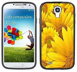 Sunflowers Handmade Samsung Galaxy S4 Black Bumper Hard Plastic Case