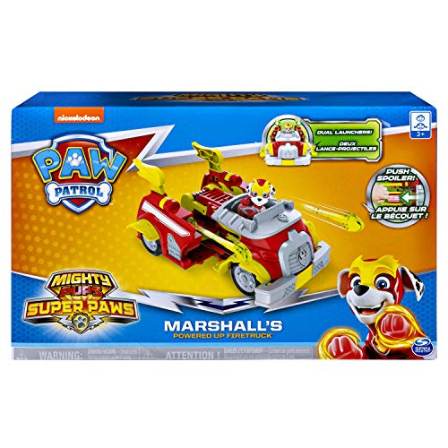 Paw Patrol, Mighty Pups Super Paws Marshall's Powered Up Fire Truck Transforming Vehicle - http://coolthings.us