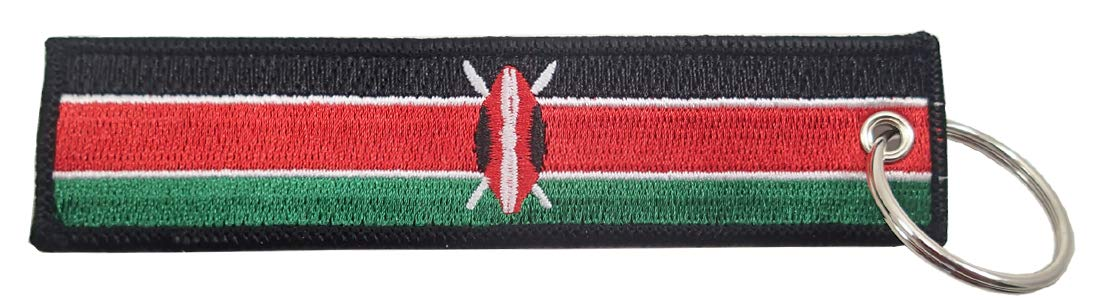 Luso Aviation Kenya Flag Key Chain 100/% Embroidered