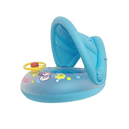 ZLY Bebé Inflable Redondo Asiento de natación con bebé ...