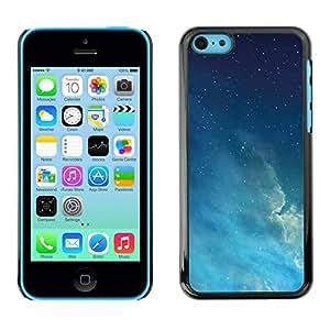 TopCaseStore / la caja del caucho duro de la cubierta de protección de la piel - Night Sky Stars Blue Space Atmosphere - Apple iPhone 5C