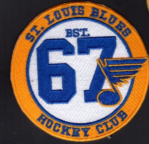 (Blues Patch Hockey Club Vintage Style 1967 Stanley Cup Champions ST. Louis)