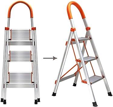 Escaleras de tijera Escalera Gigante Pequeña Escalera De Extensión Plegable De Aluminio De Acero De La Escalera De La Escalera De La Escalera De Tijera Antideslizante Plegable 3: Amazon.es: Bricolaje y herramientas