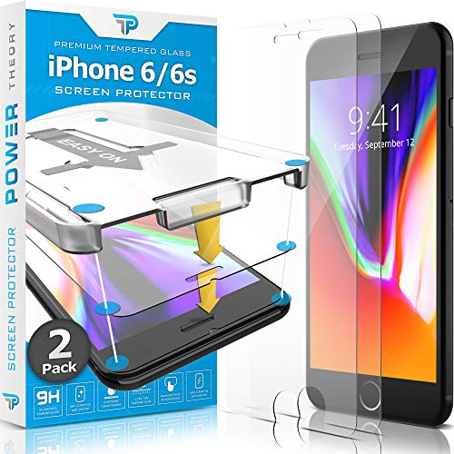 Power Theory iPhone 6s / iPhone 6 Glass Screen Protector [2-Pack] with Easy Install Kit [Premium Tempered Glass] in USA