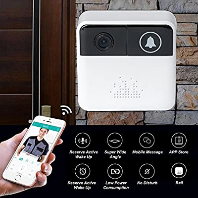 Video Doorbell Camera Wireless Smart Door Bells WiFi Home Security System with Two-Way Audio,Free App Control for iOS and Android