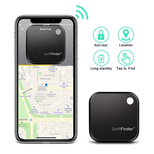 Key Finder  TBMax Key Locator Bluetooth Tracker Device with App Control for Phone, Slim Wallet Bag Luggage Tracker, Compatible with iOS Android + Replaceable Battery