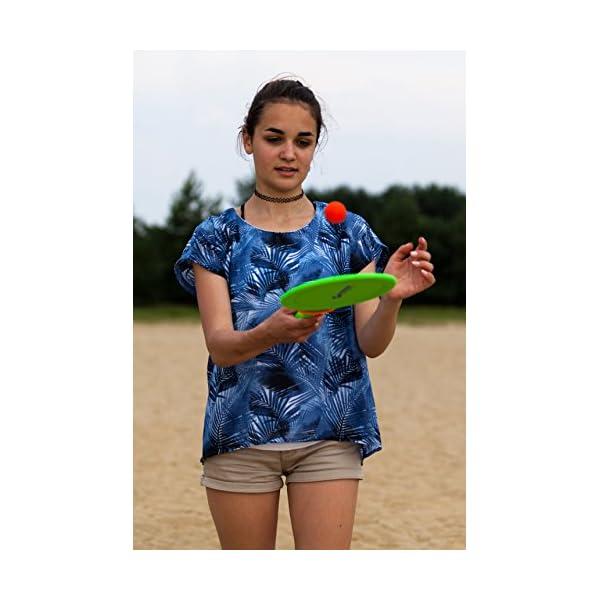 Schildkröt - Set da spiaggia in neoprene, 2 racchette, 2 palline, in borsa a rete, diversi colori 3 spesavip