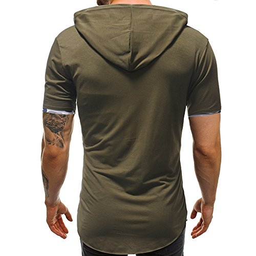 Winsummer Men Summer T-Shirt,Young Men's Short Sleeve Pullover Hoodie Sweatshirt Top Tees