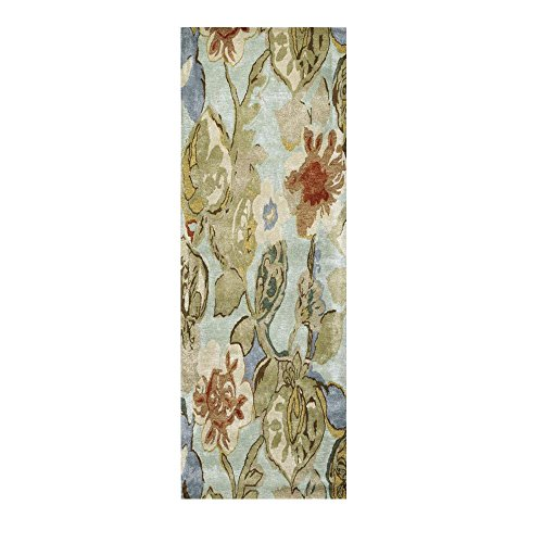 Home Decorators Collection Balcony Seafoam 3 ft. x 10 ft. Runner (Best Home Decorators Collection Area Rugs)