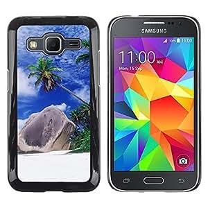 Be Good Phone Accessory // Dura Cáscara cubierta Protectora Caso Carcasa Funda de Protección para Samsung Galaxy Core Prime SM-G360 // Nature Beautiful Forrest Green 166