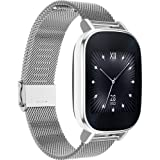 """ASUS ZenWatch 2 Smartwatch 1.45"""" Stainless Steel - Silver/Silver Metal Band (Certified Refurbished)"""