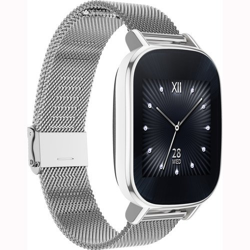 ASUS ZenWatch 2 Smartwatch 1.45' Stainless Steel - Silver/Silver Metal Band (Certified Refurbished)