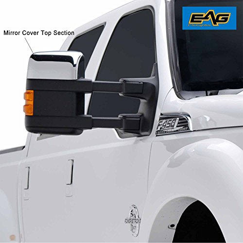EAG 08-16 Ford F250/F350 Half Mirror Cover Super Duty Chrome ABS Upper