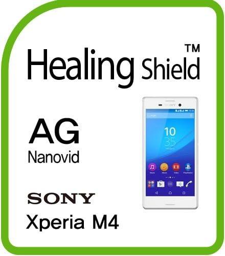 Healingshield スキンシール液晶保護フィルム Anti-Fingerprint Anti-Glare Matte Film for Sony Mobile Xperia M4 [Front 2pc+Back 1pc]